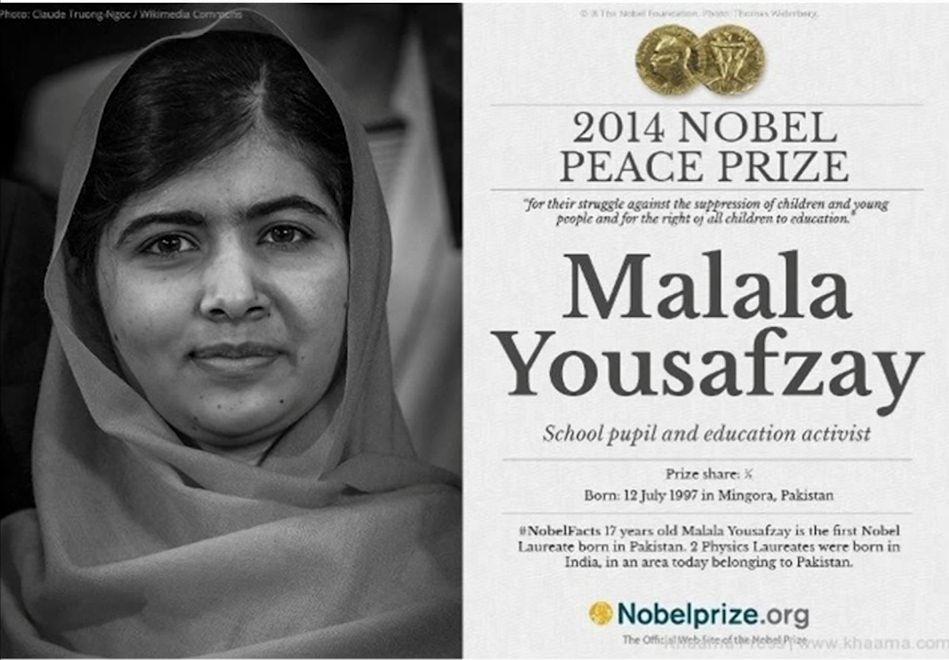 Malala Wins Nobel Peace Prize