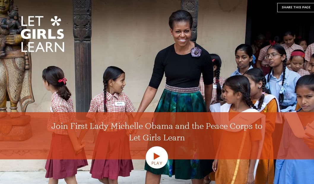 michelle obama let girls learn video