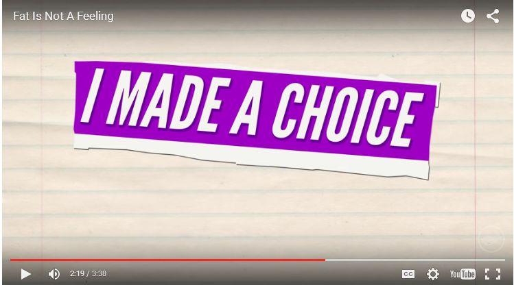 i made a choice