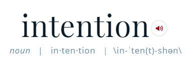 intention def