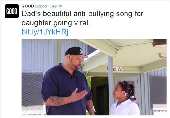 good tweet_dad anti-bully song