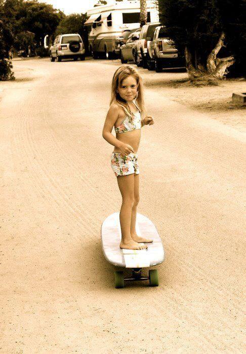 little skater girl