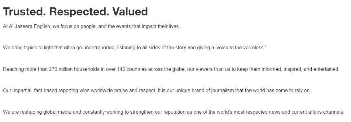al jazeera about us