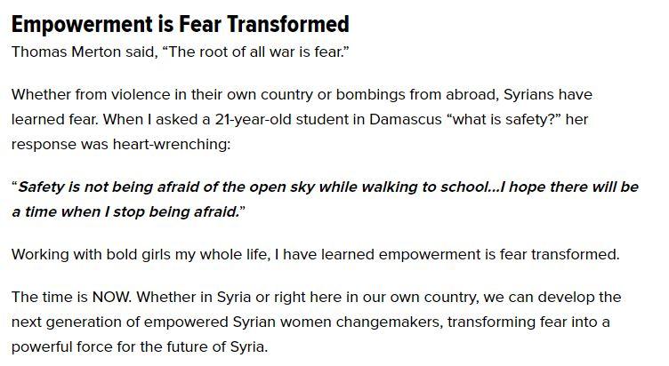 fear transformed